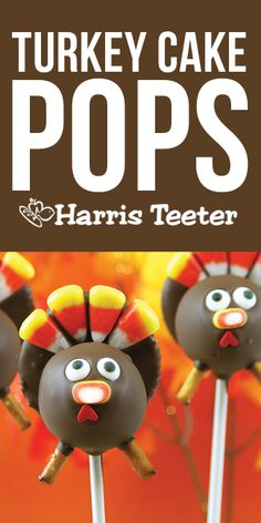 Easy and entertaining, these cute Turkey Cake Pops are perfect for making memories with the kids in the kitchen!