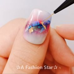 6 Pretty Nail Art For Beginners - Beautiful Nail Designs - A Fashion Star Basic Nails, Simple Nails, Pretty Nail Art, Cool Nail Art, Diy Nails, Swag Nails, Plain Nails, Nail Art For Beginners, Nail Art Videos