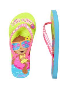 Pool Lounging Monkey Flip Flops | Swim Accessories | Swim Trends | Shop Justice