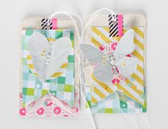 Crafting ideas from Sizzix UK: Summerly (gift-) tags by Janna Werner.