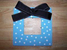 Polka dot frame - Blue