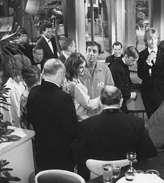 Peter Sellers, Claudine Longet and Steve Franken party it up in a scene from Blake Edwards' 1968 Hollywood comedy.