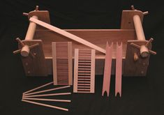 Weaving, Spinning and Carding. - Clive the Green Carpenter