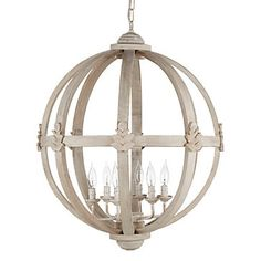 Timeless hand crafted mango wood Meridian Chandelier, $449.00. For a limited time, take 20% off this and all lighting!