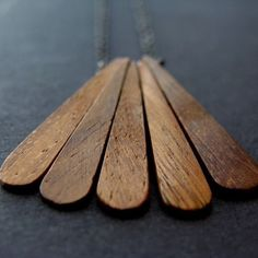 Little Wing Necklace with Wood and Oxidized by LaurenHauptJewelry, $40.00