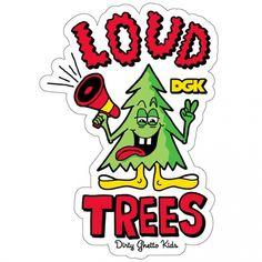 DGK Skateboards DGK Loud Trees Sticker