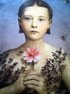 Girl with a bee dress. Maggie Taylor