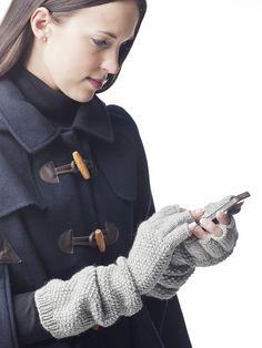 Neulotut kynsikkäät Novita 7 Veljestä | Novita knits harmaat neulotut kämmekkäät