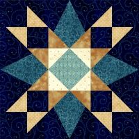 Pam died & all her links are gone.  First Star I've Seen Tonight Quilt Block
