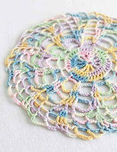 Vintage Pastels Doily- Easy- Crochet