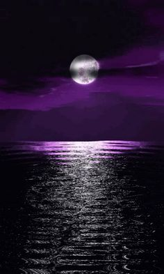 Purple moon reflections