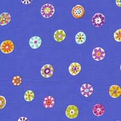 Sarah Campbell - Melodies - Folk Floral Dot in Periwinkle