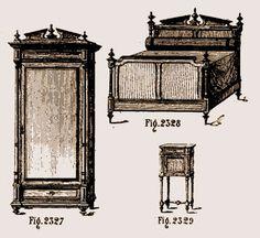 Meuble chambre à coucher Marie-Antoinette Louis XVI