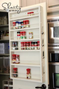 tutorial for a pantry door spice rack