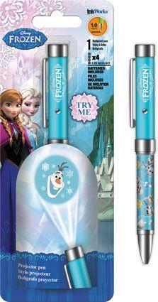 The Disney Frozen Olaf Snowman Projector Pen! Great for any Frozen Fan. Just press the button to project Olaf on the wall or any flat sur. Disney Frozen Party, Disney Frozen Olaf, Frozen Birthday, Birthday Cake, Frozen Toys, Frozen Frozen, Frozen Movie, Bebidas Do Starbucks, Olaf Snowman