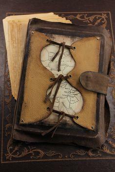 Viejo mundo cuero diario diario de cuero artesanal por CatChristie