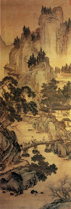 Zhou Chen(周臣) ,  春山游骑图