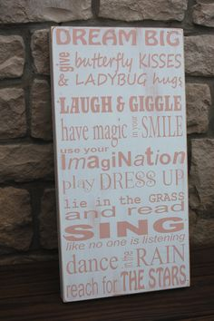 Shabby Chic vintage looking Subway Art wood sign for by kspeddler, $55.00