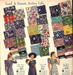 1940's fabric blog post. Why do these out of print fabrics have to be so adorable!?