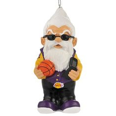 Los Angeles Lakers Gnome Ornament