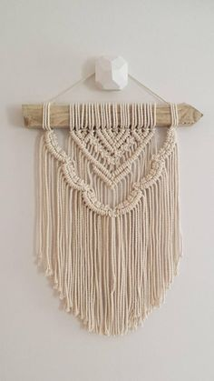 This is one of a range of wall hanging which I have designed for those who would love to purchase a macramé wall hangin. Macrame Design, Macrame Art, Macrame Projects, Macrame Wall Hanger, Macrame Wall Hangings, Art Macramé, Modern Macrame, Back Piece Tattoo, Macrame Patterns