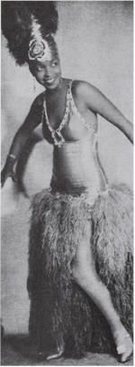 """the great Ethel Waters dressed up to do the """"shimmy.""""  From Joan Renner's blog, """"Vintage Powder Room."""""""