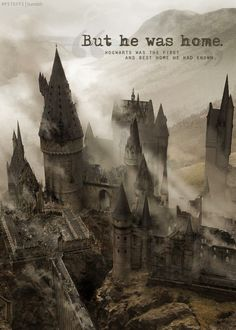 We are all home at hogwarts. Mundo Harry Potter, Harry Potter Magic, Harry Potter Facts, Harry Potter Quotes, Harry Potter Books, Harry Potter Love, Harry Potter World, Harry Potter Hogwarts, Wallpaper Harry Potter