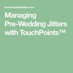 TouchPoints™ are a new stress relief tech wearable that work amazingly for pre-wedding day jitters and are a must-have for nervous brides and grooms. Wedding Jitters, Wedding Stress, Stress Relief, Wedding Day, Pi Day Wedding, Marriage Anniversary, Wedding Anniversary