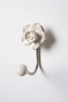 Petal Hook from Anthropologie - so cute to hang by the door for keys!