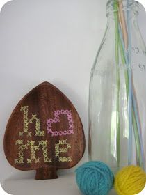 dee*construction: party week: dee.i.y - painted cross stitch