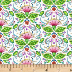 Wilmington Rainbow Flight Damask White - Fabric.com Orange Bathroom Decor, Tula Pink Fabric, Printed Cotton, Woven Cotton, Cotton Fabric, Wilmington Prints, Fabric Ribbon, Home Decor Items, Wall Design