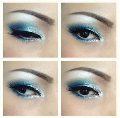 Blue and White Winter Wedding | winter wonderland: white and blue | Indian Bride's Make Up - Wedding