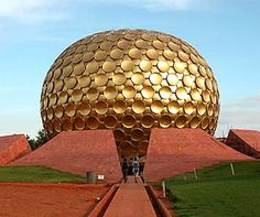 Auroville- Sri Aurobindo Society in Pondicherry proposed the formation of Auroville to Her. After She gave Her consent, the approval of the Government of India was taken. The government took this concept to General Assembly of UNESCO and the project received approval as well as commendation in 1966.