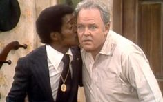 Everything You Wanted to Know About 'All in the Family' ... Sammy and Carroll were good friends, so when Sammy requested a guest spot on the hit show he was given one. The look on Archie Bunker's face when Sammy Davis Jr. planted a kiss on his cheek for returning his lost briefcase, it got the longest and loudest laugh from the audience in the entire series of the show.