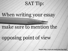 Tips for sat essay