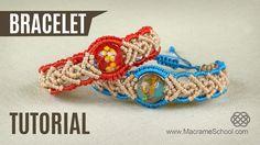 DIY Big Bead Boho Bracelet in Two Colors - http://youtu.be/1L5c7USPlv4