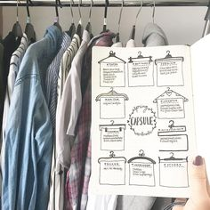 "14 Likes, 2 Comments - Becky (@bujowithbecky) on Instagram: ""#PlanWithMeChallenge Day Seventeen • Unique & Useful. . I've decided to set up a Capsule Wardrobe…"""