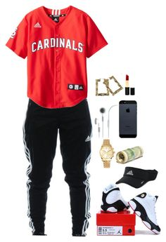 """""""8.7.14"""" by mickeydontcare ❤ liked on Polyvore featuring adidas, Michael Kors and Iman"""