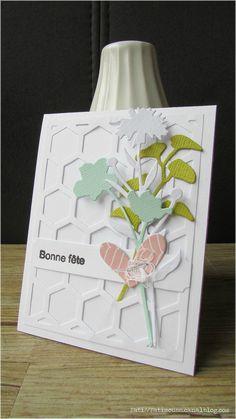 Jolie carte de Fati avec les dies Fleurs des Champs de Scrap à la Carte
