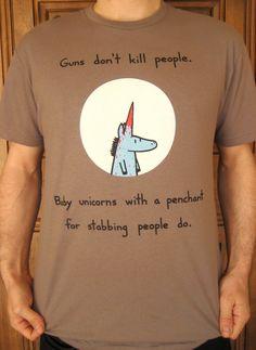 Baby Unicorn Kills People Tshirt only sizes medium by bikeparts, $25.00