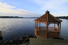 A spacious Monterey gazebo plan in Minden, Ontario offers a breathtaking beautiful 360 degree view. Green Building, Building Plans, Gazebo Plans, Western Red Cedar, Take A Seat, Lake View, Great View, Ontario, The Dreamers