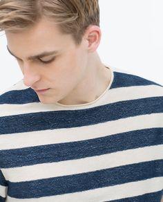 SHORT SLEEVE STRIPED T - SHIRT - View all - T - shirts - MAN | ZARA Germany