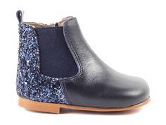 Eli+5618+bottientje+blauw+glitter