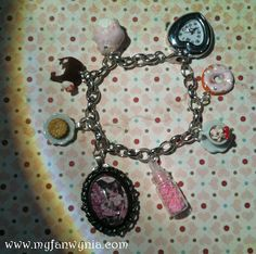 Sweet Charm Bracelet With Cakes Watch Charm and Art by myfanwynia, $30.00