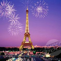 Eiffel tower at night with fireworks. Beautiful! #Paris #france #travel
