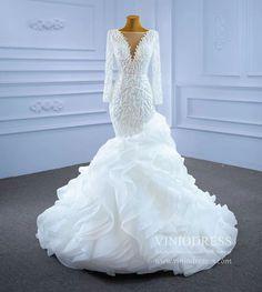 Wedding Dress Sleeves, Cheap Wedding Dress, Bridal Wedding Dresses, Lace Wedding, White Bridal, Mermaid Dresses, Unique Dresses, Mermaid Wedding, The Help