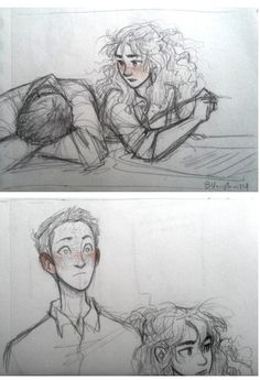 Ron and Hermione realizing they like eachother. By Burdge