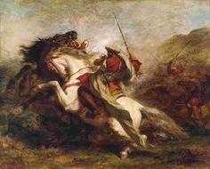 Delacroix - Collisione Di Cavalieri Arabi - 1844