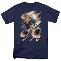 JLA/Supergirl #1 Short Sleeve Adult T-Shirt 18/1 in Navy