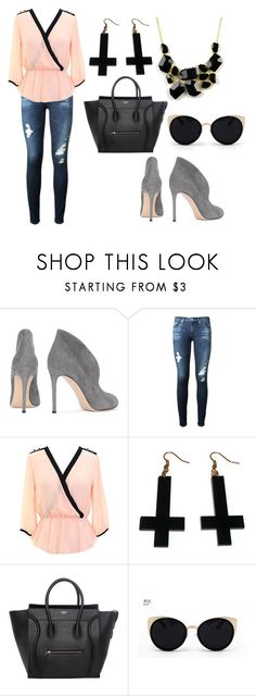 """""""switch to"""" by timmology on Polyvore featuring Gianvito Rossi, AG Adriano Goldschmied, Chicnova Fashion, Una-Home and Emi Jewellery"""
